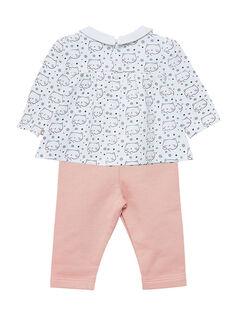Ensemble chemise + legging naissance fille JOU1ENS5 / 20SF03J2ENS000