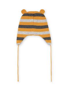 Bonnet en maille à rayures bébé garçon MYUGROBON2 / 21WI1061BONJ920