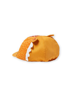 Casquette jaune motif léopard bébé garçon LYUTERCASQ / 21SI10V1CHAB106