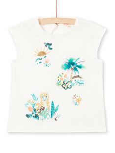 T-shirt manches courtes, animation paysage et tigre LAVERTI1 / 21S901Q3TMC001