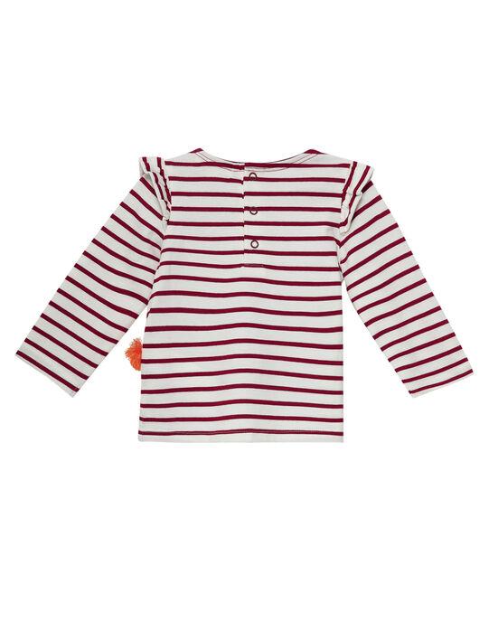 Tee shirt rayé bébé fille JICLOTEE / 20SG0911TML001