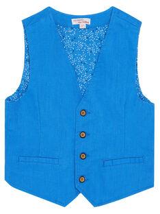 Gilet de costume garçon bleu JOSOGIL / 20S90281GSM201