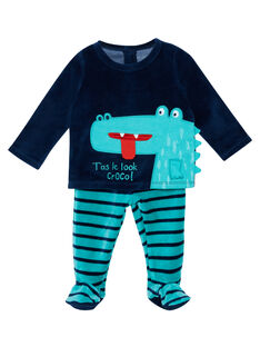 Pyjama bébé garçon en velours  JEGAPYJCRO / 20SH14C1PYJ720