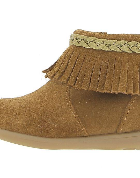 Boots en cuir bébé fille DBFBOOTIND / 18WK37T2D0D804