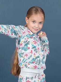 Haut de jogging à capuche et imprimé fleuri enfant fille MAJOHAUJOG1 / 21W90111JGH943