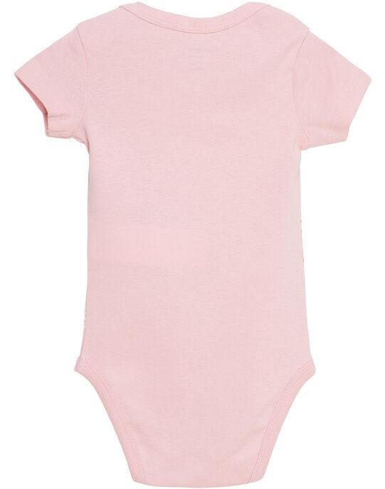 Body bébé fille manches courtes rose clair JEFIBODJUN / 20SH13V4BDL321
