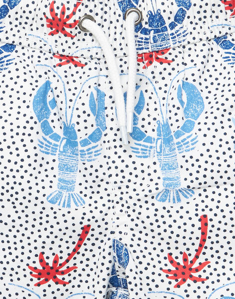 Bermuda garçon blanc imprimé homard  JOCEABER1 / 20S902N2BER000