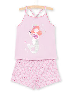 Pyjama lilas enfant fille LEFAPYJMER / 21SH11C8PYJH700