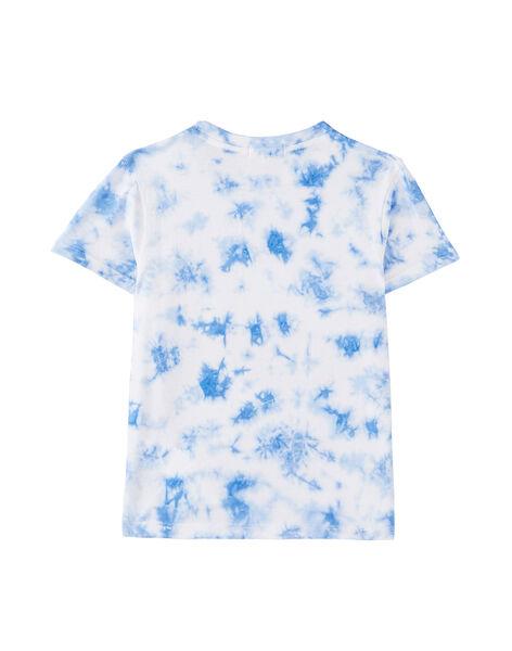 Tee shirt garçon tye and dye bleu JOQUATI4 / 20S902R4TMC000