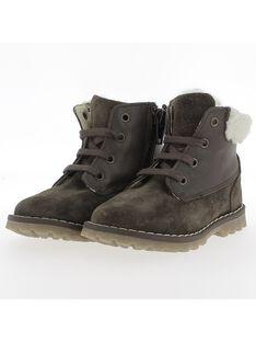 Boots fourrée en cuir bébé garçon DBGBOOTMON / 18WK38T2D0D802