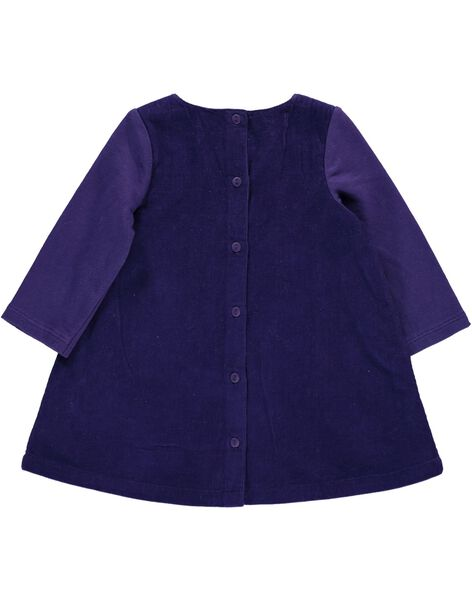 Robe en velours bébé fille DIVIOROB1 / 18WG09H1ROB711