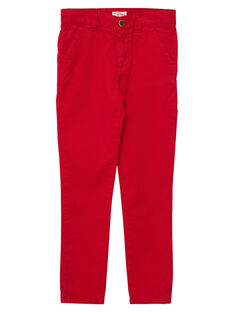 Pantalon chino garçon rouge JOJOPACHI6 / 20S90246D2BF505