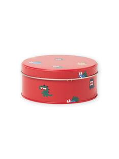 Boîte à gouter en métal rouge motifs dinosaures enfant garçon MYOCLABOI / 21WI02G1D5OF521