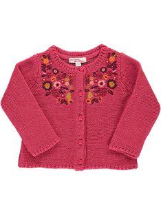 Gilet en laine bébé fille DIPINCAR / 18WG09P1CAR302