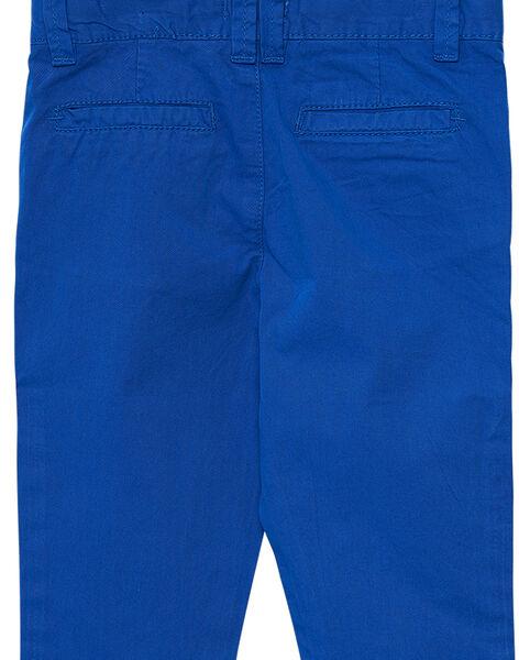 Pantalon chino garçon cobalt JOJOPACHI5 / 20S90241D2B703