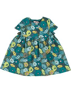 Robe en velours bébé fille DIVEROB1 / 18WG0973ROB099