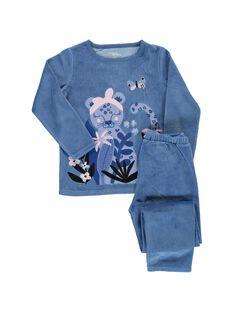 Pyjama en velours fille CEFAPYJTIG / 18SH1141PYJC208