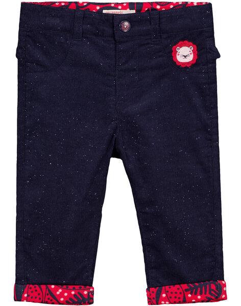 Pantalon Bleu marine GITRIPAN / 19WG09J1PAN070
