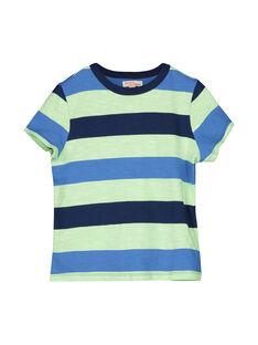 Tee-shirt rayé manches courtes garçon FONETI1 / 19S902B1TMC099