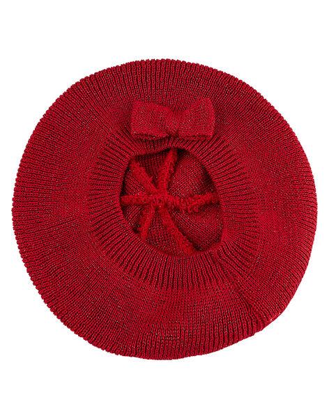 Beret bébé fille rouge avec lurex JYIVIBON / 20SI09D1BON330
