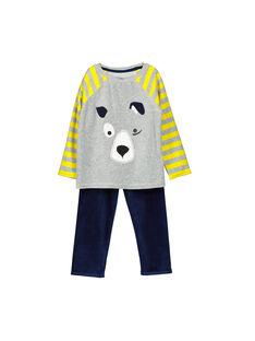 Pyjama en velours garçon FEGOPYJDOG / 19SH1242PYJJ908