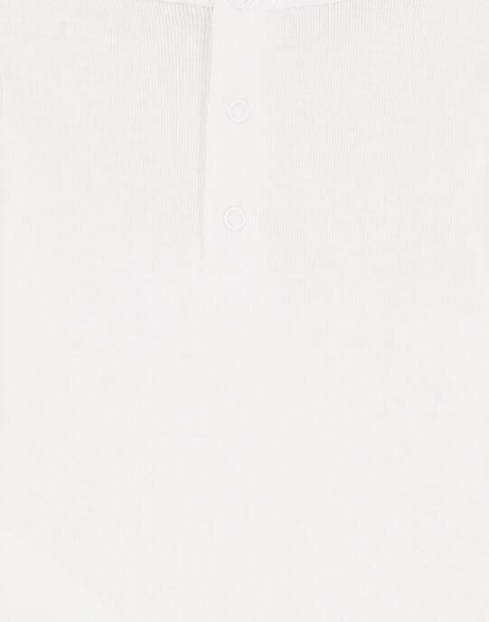 Body manches longues blanc en rib layette garçon GEGABODANI / 19WH14N4BDL000