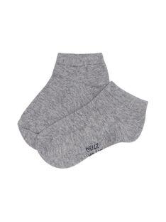 Socquette grise claire mixte JYOESSOQ2 / 20SI0266SOQJ922