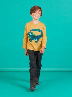 Pantalon milano gris anthracite enfant garçon MOTUPAN1 / 21W902K1PAN944