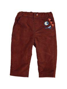 Pantalon en velours doublé polaire bébé garçon DUPINPAN2 / 18WG10P2PAN099