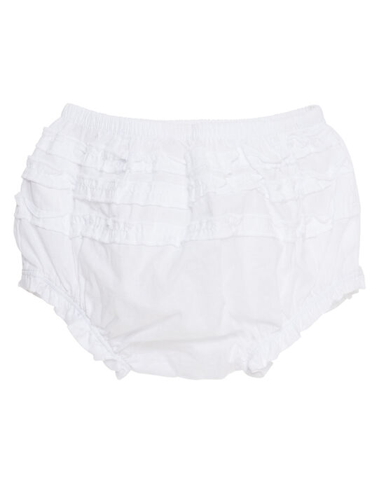 Bloomer blanc layette fille JIJOBLOO1 / 20SG09T1BLR000