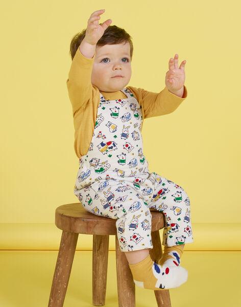 Salopette réversible écrue motifs animaux bébé garçon MUMIXSAL / 21WG10J1SAL001