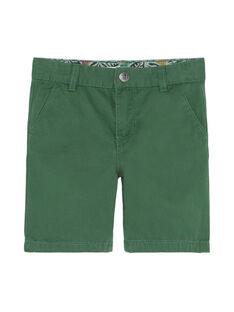 Bermuda garçon vert  JODUBER4 / 20S902O2BER601