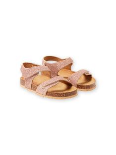 Sandales doré rose enfant fille LFNUGOLD / 21KK3556D0EK009