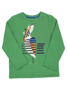 Tee Shirt Manches Longues Vert DONAUTEE5 / 18W902G5TMLG606