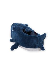 Pantoufles bleues requin 3D enfant garçon MOPANTREQ3D / 21XK3631PTD715