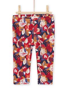 Pantalon imprimé fleuri bébé fille MIFUNPAN / 21WG09M1PAN070