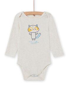 Body écru motif raton-laveur bébé garçon MEGABODCOP / 21WH14C6BDL006