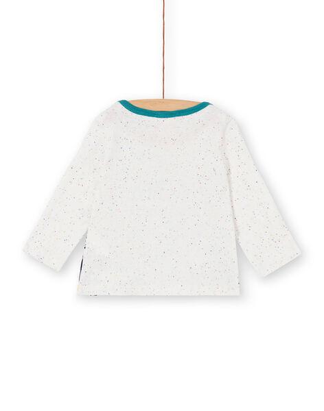 Tee-shirt manche longue beige bébé garçon KULUTEE2 / 20WG10P2TML001