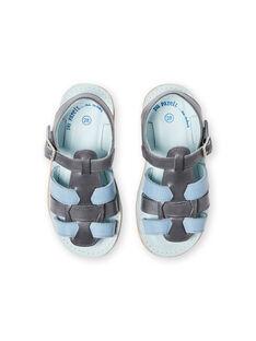 Sandales grises et ciel enfant garçon LGSANDADAM / 21KK3652D0E940