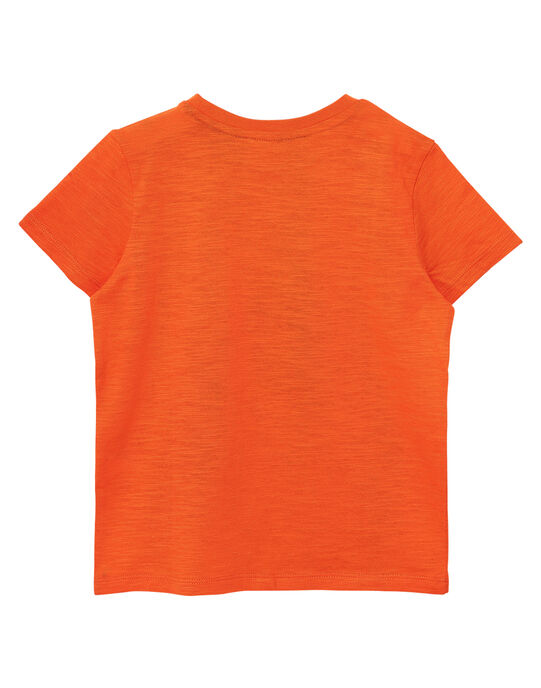 Tee shirt garçon manches courtes orange animaux JOJOTI1 / 20S90244D31406