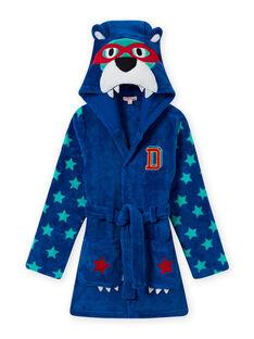 Robe de chambre bleue motif ours enfant garçon MEGOROBOURS / 21WH1281RDC702
