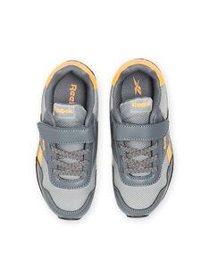 Baskets Reebok grises à détails jaunes enfant garçon MOG58315 / 21XK3643D36940