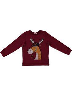 Tshirt manches longues épais Rouge GOBRUTEE2 / 19W902K3TML511