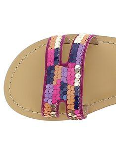 Sandale en cuir fille CFSANDSEQ / 18SK35WED0E304