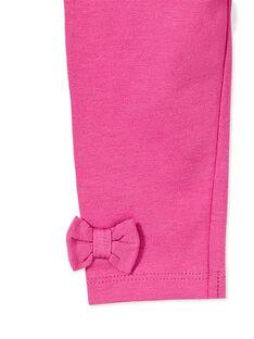 Legging rose fuchsia nœuds bébé fille KYIJOLEG1 / 20WI0951D26304