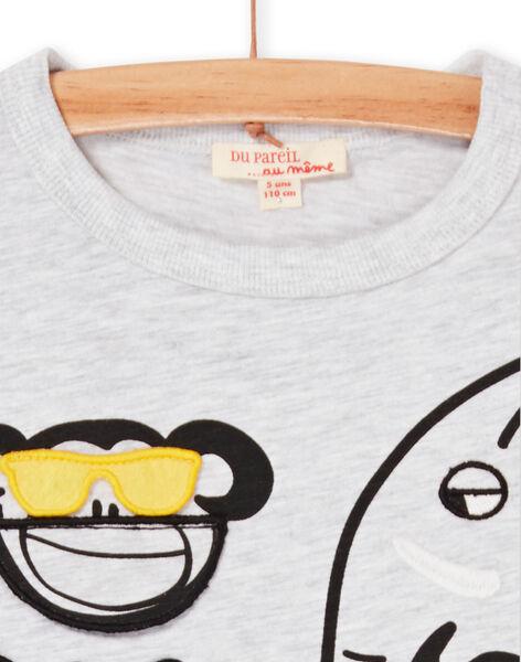 Tee Shirt Manches Courtes Gris chiné LOVITI6 / 21S902U2TMC943
