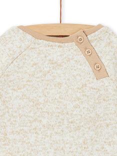 Sweat Shirt Ecru chiné LUNOSWE / 21SG10L1SWEA010