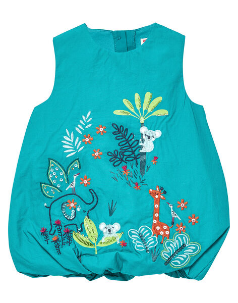 Robe boule turquoise bébé fille JICLOROB2 / 20SG0911ROBC235