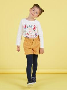 Short style paperbag jaune moutarde enfant fille MAMIXSHORT / 21W901J1SHOB106
