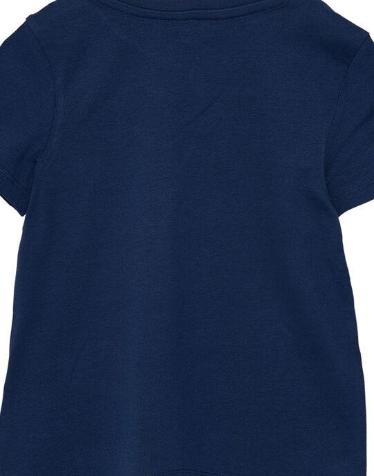 Tee shirt manches courtes garçon uni marine JOESTI2 / 20S90261D31070